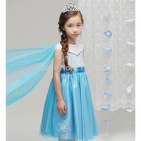 Kids summer frozen sequined tutu dress , frozen clothing , 5pcs/lot   ZXH01