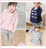 Free shipping 2014 new children clothes flower cotton hoodies girls sweatshirts Children's cardigan coat