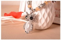 Owl exquisite crystal necklace, Miss Gao Dang sweater chain Valentine sent his wife a birthday present