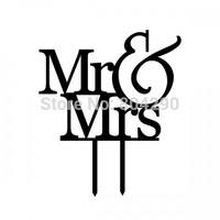 Cheap Personalized Designer Mr & Mrs Acrylic Wedding Cake Topper Custom Cake Accessory Free shipping