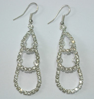 Fashion long earrings women crystal drop earring beautiful earrings