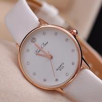 New Arrival Women's Fashion Watches Women Dress Rhinestone Watch Ladies Quartz Casual Clock Leather Strap Wristwatch
