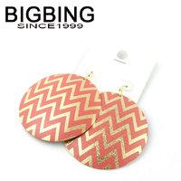 BigBing  jewelry Color ripple circular metal earrings earrings female 5 colors wholesale Earrings S703