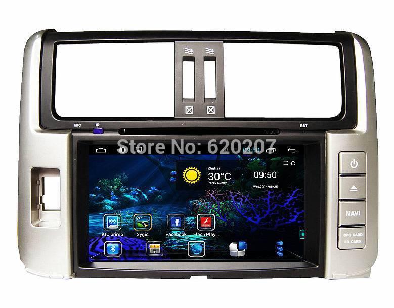 TOYOTA PRADO pure Android 4.4 CAR DVD player,Navigation ,Capacitive screen,GPS, DVD, FM/AM,iPod, Bluetooth, RDS, 3g, wifi,(China (Mainland))