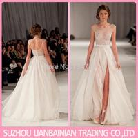 Vestido De Formatura 2014 Ruffles Prom Dress White Graduation Dress