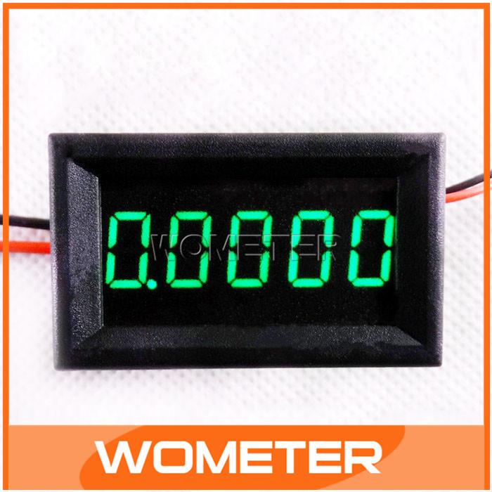 100pcs/lot 4 Wires Amp Gauge 5 Digit 3.5-30V Power Supply Digital Current Panel Meter Green LED Display Digital Ammeter#201024(China (Mainland))