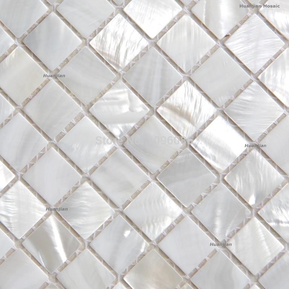 Shinning Silver White Mosaic Mother Of Pearl Tiles Kitchen Backsplash
