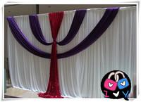 White Silk Wedding Backdrop Wedding Curtain Backdrop Wedding Drape free shipping