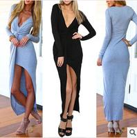 New Nightclub Ladies Sexy Bandage Dress Explosion Models Kink Beach Dress Deep V-Neck 4328 summer dress 2014