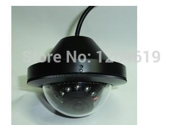 "freeshipping Bus IR Day Night Mini Metal Dome Camera security 1/3"" Sony Color SuperHAD II CCD NC2030 633BK 12 Led audio optional(China (Mainland))"