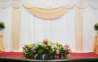 3m  x 6m Wedding Backdrop Wedding Curtain Backdrop Wedding Drape with LED light free shipping