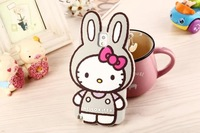 Newest 3D Rabbit Silicon Hello Kitty Cellphone Cover for Samsung Galaxy Note3 Cute Cartoon Rabbit Korean Style Protector
