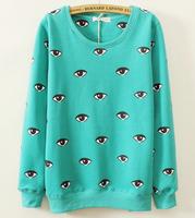 Eyes Autumn And Winter Women's Hooded Sweatshirts Outwear Hoodies Women Ladies fashion Eye Coat Winter clothes