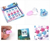 South Korea Imported Children's Cartoon Ring Frozen Ring Girl Jewelry Toys 20pcs/Box 5 Boxes/Lot Fast Shipping Drop Shipping