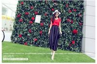 2014 summer new European and American big cool lace chiffon wide leg pants pant 8201-K012-P35