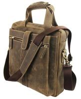 leather briefcase laptop bags messenger bag Crazy horse leather handmade shoulder bags handbag