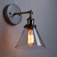 Industrial Edison Glass Shade Loft Coffee Bar Wall Sconce TN-YJ-8837