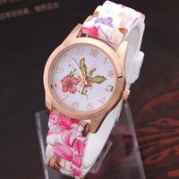 8 Colors Ladies Quartz Watch Silicone Flower Casual Watch For Women's Fashion Watches Women Dress Watch relogios femininos
