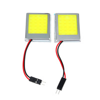 2x T10 24 SMD LED White Dome Festoon Car License Plate COB LED Lamps Light Panel Auto Car Light Source