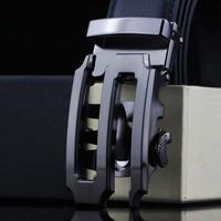 New 2014 Mens Belts Designer Pierced Genuine Leather Belts Automatic Belt Buckle Cowhide High Quality Men Leather Belts MB237