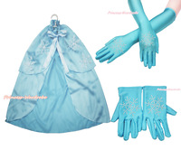 Baby Girl Princess Elsa Rhinestone Snowflake Cape Glove Costume Set MAC232
