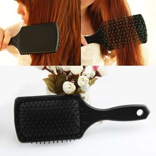 Fashion Hair Care Styling Tools Black Flat Comb Scalp Massage Hairbrush Reduce Hair Loss HB-0016(China (Mainland))