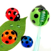 1 Piece New Nolvelty Ladybug Automatic Toothbrush Holder Free shipping