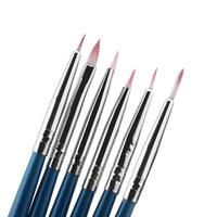 Lowest Price 6pcs/Set Polish Brush Set Nail Art Design Painting Tool Pen Gel UV Nail Print Brush Kit