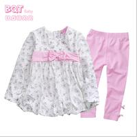 Infant clothes retail children's clothing princess moon bow out clothes female clothes newborn cotton suit