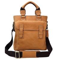 wholesale genuine leather briefcase messenger bag Crazy horse leather handmade shoulder bags handbag