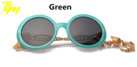 Fashion Design New Brand Women Round Glasses Retro Millionaire Inspired Girl Tassel Metal Legs Crystal Round Sunglasses oculos