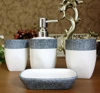 Mediterranean Style Bathroom Set White Ceramic Four-piece Set Bathroom accessories  Free Shipping