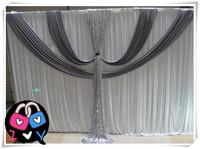 White Silk Wedding Backdrop  3*6M Wedding Curtain Backdrop Wedding Drape free shipping