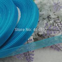 "100Y 3/8"" (10 mm) Sheer Wedding Appliques Craft sewing S047-Dark Blue"