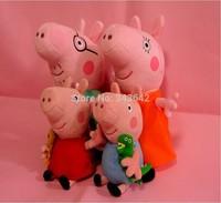 4pcs/lot kids children girls 19cm Plush George Peppa Pig Family Toys Keychina 30cm Daddy Mummy Pig Stuffed pig Peppa Familia set