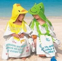 2014 baby children boys girls cute animal design soft bathrobe bath towel nighty 0~6 years free shipping