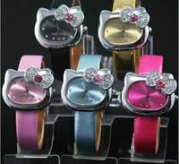 Hello Kitty bow cathead quartz cartoon lovely students Wristwatch WA003