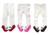 newborn baby girls bow pantyhose  children tights  baby formal dress accessories  red / pink / black