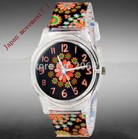 Willis for Mini Folwers Pattern Design Fashion women dress Water Resistant Analog Wrist quartz Watch ladies watch free shipping
