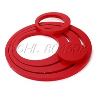 5PCS Red Removable Circle Rings Stickers For Art Wall Decoration