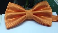2014  Fashion High Quality Orange Polyster Bow tie