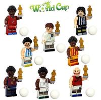 8pcs Minifigures Brazil World Cup Football Creus Rooney Messi Building Toys New