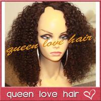 Afro kinky curly upart wig virgin mongolian u part wig kinky curly hair 180 density u part curly human hair wigs for black women