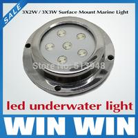 10pcs High waterproof  IP68 6W Led Surface Boat Lights  Fountain Swimming Pool Marine Bulbs