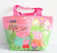 1pc Fashion Handbag Peppa pig Kids girl bags cartoon school bags waterproof handbag children gift mum bag shoulder bag shopping
