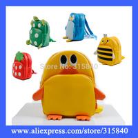 1pc New 2014 Animal Children School bags For Girls Boys PU Leather Infantil Backpacks Cute Kids Bag Mochila -- BIA01 PA51 Retail
