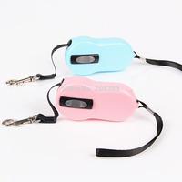 Small Size Pet Retractable Pet Dog Cat Leash Lead 2.4m Belt Toy Dog Collar Leash Automatic Flexi Teddy Bear Belt Leash