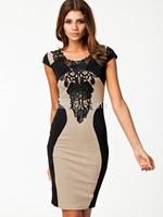 Most popular floral appliques women party dresses short sleeve evening club dress vestidos