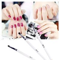 New!! 3pcs/Set DIY Professional Nail Art Design Painting Tool Pen Polish Brush Kit White