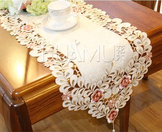 product European style  table runner home decor caminho de mesa toalhas de mesa bordada Crocheted Lace m080605